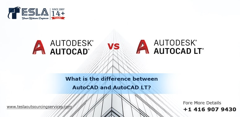 What is the difference between AutoCAD and AutoCAD LT?