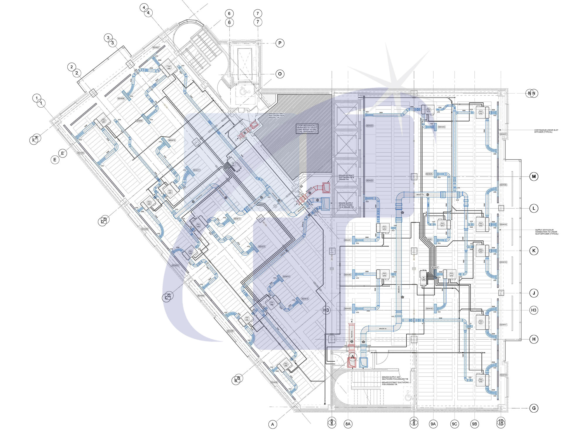 MEP Shop Drawing Sample