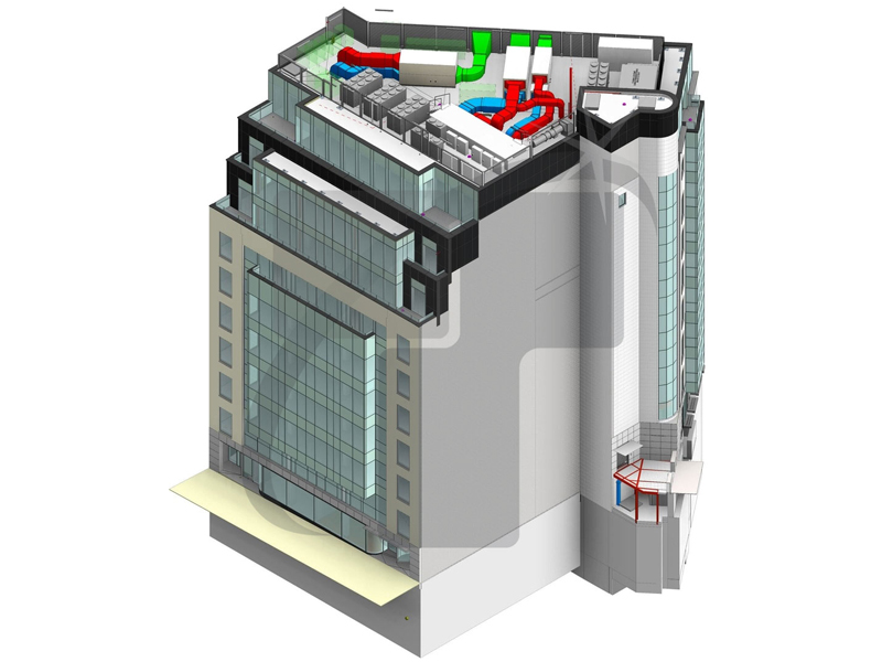 Architectural BIM Model of Commercial Building
