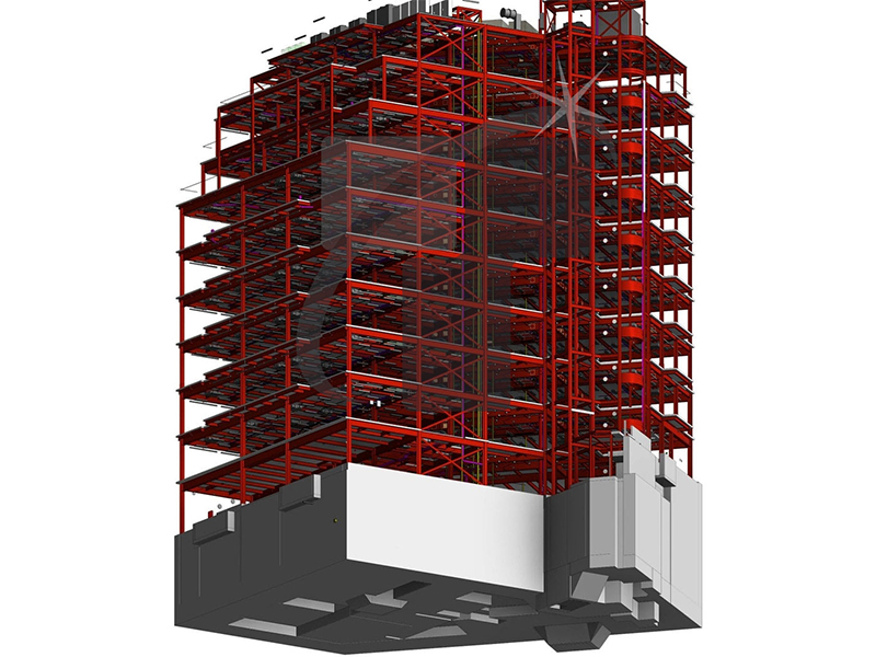 Structural BIM Model of Commercial Building