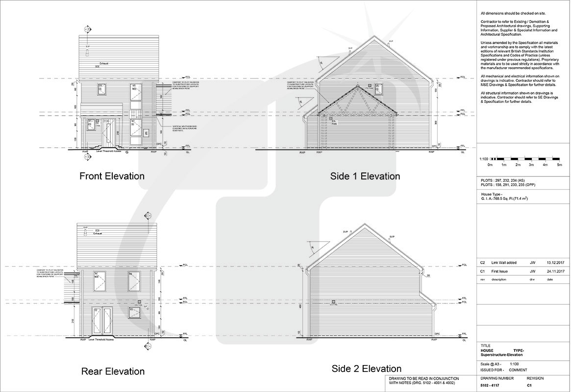 Construction Drawing Portfolio Tesla Outsourcing Services