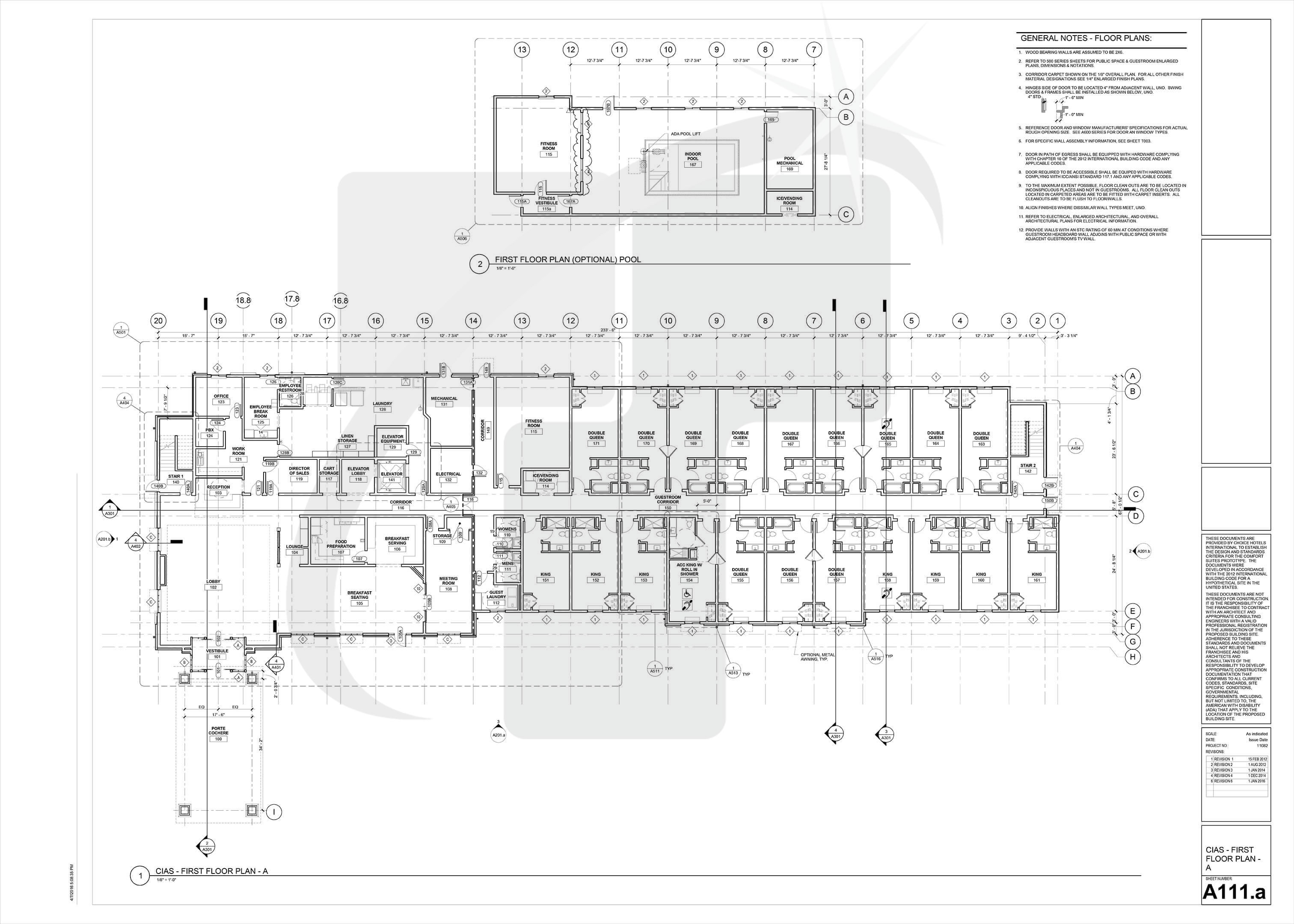 Construction Drawing Samples Working Drawings Documents Hvac Sample First Floor Plan A