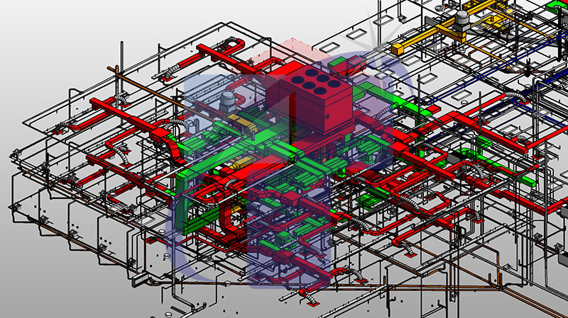 Heat-Ventilation-and-Airconditioning-with-Plumbing-and-Electrcial-system-BIM-Modeling