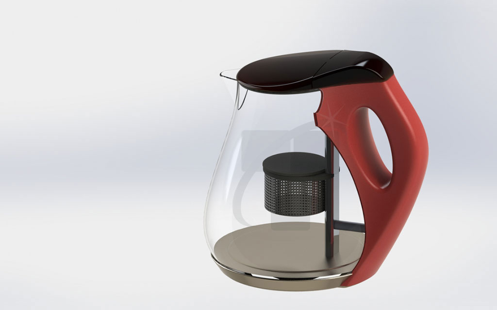 Kettle with coffee filter